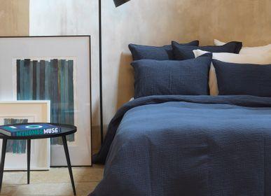 Linge de lit - Housse de couette gaze de coton bleu nuit - MAISON D'ÉTÉ