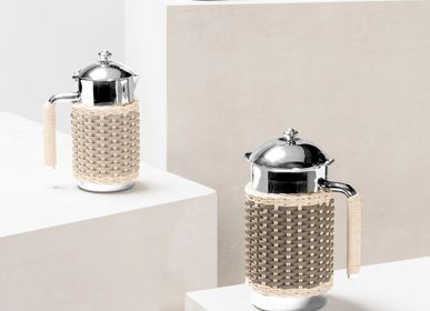 Kitchen utensils - RENNES LEATHER & RATTAN CARAFES - PIGMENT FRANCE BY GIOBAGNARA