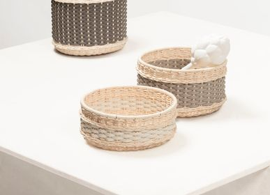 Caskets and boxes - NÎMES LEATHER & RATTAN BOWLS - PIGMENT FRANCE BY GIOBAGNARA