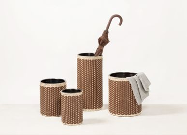 Decorative objects - CÉZANNE LEATHER & RATTAN BINS - PIGMENT FRANCE BY GIOBAGNARA