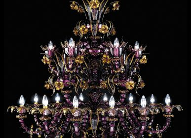 "Suspensions - REZZONICO Murano Glass ""700 Chandelier - SEGUSO GIANNI"