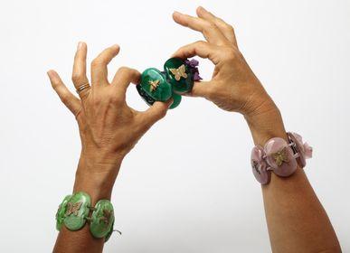 "Jewelry -  Vetrofuso Bijoux: ""Charms"" Oval Bracelet - VETROFUSO DI DANIELA POLETTI"
