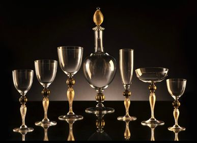 Stemware - Murano Glassware Set with Carafe - SEGUSO GIANNI