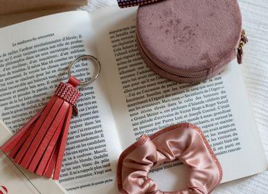 Accessoires cheveux - Porté-clé en cuir et cristaux Swarovski® SWING - VALÉRIE VALENTINE
