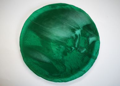 "Decorative objects - ""Marble"" Plate Ø28cm - VETROFUSO DI DANIELA POLETTI"