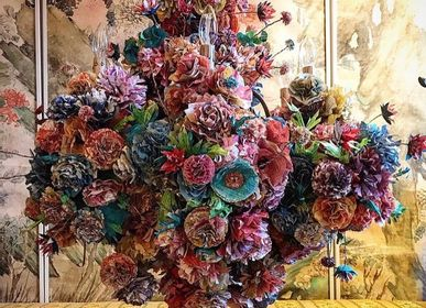 Floral decoration - Chandelier - paper flowers - CRIZU