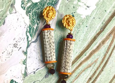 Jewelry - Fiamma - paper earrings - CRIZU