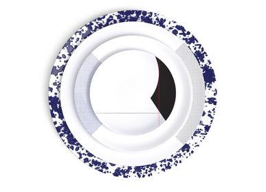 Formal plates - Collection Perspectives, a mix and math of our dinnerware sets - NON SANS RAISON PORCELAINE DE LIMOGES