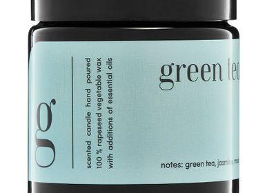 Bougies - bougie parfumée minimaliste 100% cire végétale thé vert - MIA COLONIA
