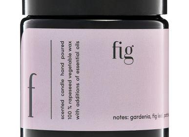 Bougies - bougie parfumée minimaliste 100% cire végétale figue - MIA COLONIA