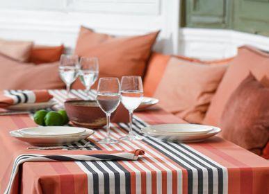 Table linen - Tablecloth Ainhoa Fronton Terracotta in cotton satin (different sizes available) - LA MAISON JEAN-VIER
