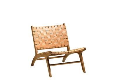 Chaises longues - Chaise longue 81x60x72 cm Teck - VILLA COLLECTION