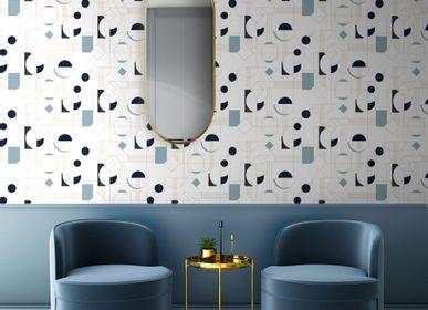 Autres décorations murales - Papier peint Daisy Bleu - PAPERMINT