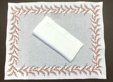 Table linen - PLACEMAT with napkin - PLACE MAT SET - VILLAFLORENCE