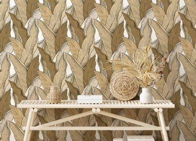 Autres décorations murales - Papier peint Leaf Terre d'Ombre  - PAPERMINT