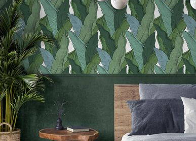 Other wall decoration - Wallpaper Leaf Vert Fond Blanc - PAPERMINT