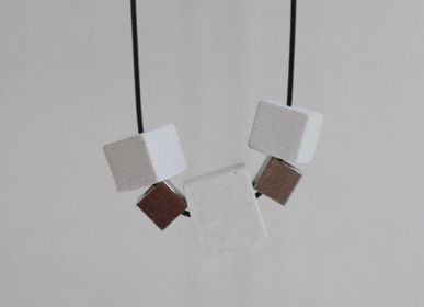 Jewelry - Cubes - Contemporary White Concrete Collar - CHAPITRE MAISON
