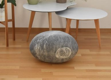 Fabric cushions - Felted wool floor cushion, Pierre collection - KAYU