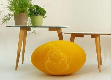 Coussinstextile -  Coussin de sol en laine feutrée, collection Soleil - KAYU