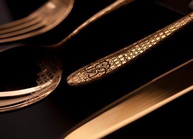 Flatware - Lizzard Gold Cutlery - ROBERTO CAVALLI HOME TABLEWARE
