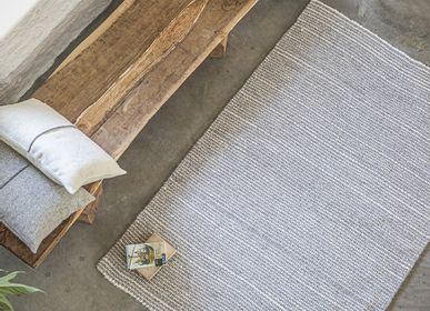 Tapis - Tapis laine naturelle tissée à la main - Modèle Strate - LAINES PAYSANNES