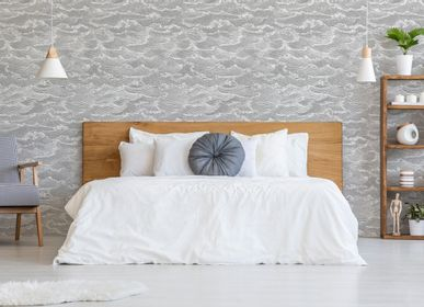 Other wall decoration - Wallpaper Waves Gris Argent - PAPERMINT