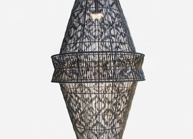 Objets design - HACIENDA CRAFTS Lampe suspendue double Ikat - DESIGN PHILIPPINES HOME