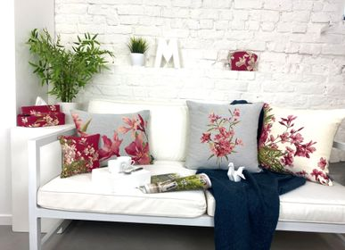 Fabric cushions - Laurel flowers - ART DE LYS