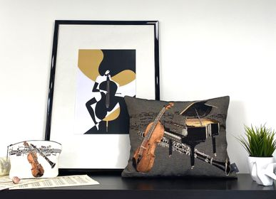 Fabric cushions - Music - ART DE LYS