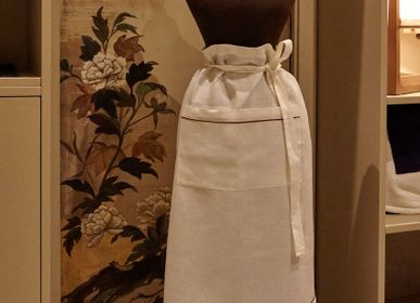 Aprons - Apron with piping and borders with double pocket - 100% Organic - MYDO.WORLD