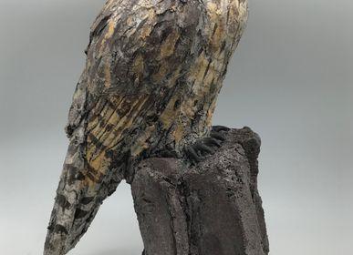 Sculptures, statuettes et miniatures - HIBOU MOYEN DUC - NICOLE DORAY S