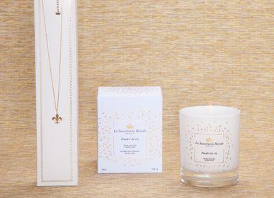 Bougies - Bougie parfumée Poudre de riz avec un collier - LA SAVONNERIE ROYALE