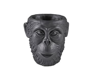 Pottery - Flowerpot Gorilla D19x19 Black Cement - VILLA COLLECTION
