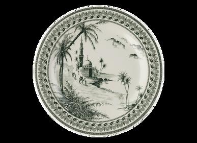 Céramique - Assiettes canapés Vue d'Orient - Les Dépareillés Vert - GIEN