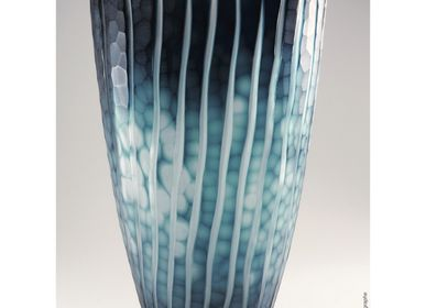 Vases - Vase en Cristal Taillé - Azur - CRISTAL BENITO