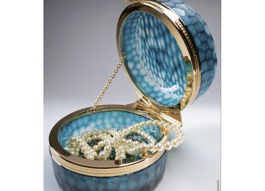 Coffrets et boîtes - Boite Coffret en cristal Taillé: Azur Bee Box  - CRISTAL BENITO