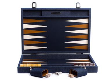 Leather goods - Backgammon large I Denim Canvas - HECTOR SAXE PARIS DEPUIS 1978