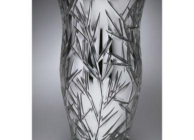 Vases - Vase en Cristal Taillé - Silver Tree of Life - CRISTAL BENITO