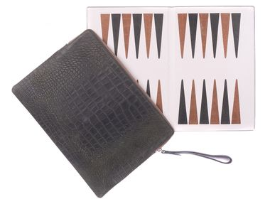 Leather goods - Backgammon clutch I Alligator effect leather - HECTOR SAXE PARIS DEPUIS 1978