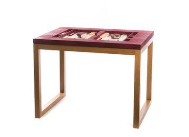 Decorative objects - Backgammon table I Alligator effect leather - HECTOR SAXE PARIS DEPUIS 1978
