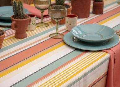Table linen - Coated tablecloth Osses Amber multicoloured (several sizes available) - LA MAISON JEAN-VIER