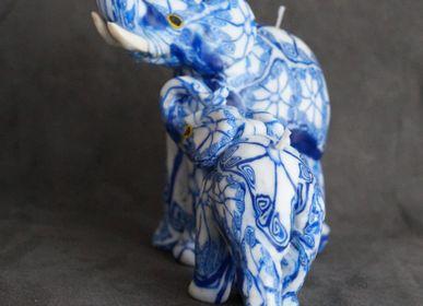 Decorative objects - DELPH BLUE ELEPHANT CANDLE - KANDHELA
