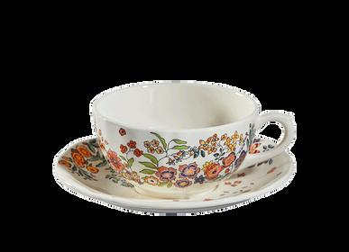 Tasses et mugs - Tasses et soucoupes à déjeuner x2 - Poésie  - GIEN