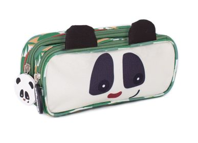 Bags and backpacks - 2 ZIP PENCIL CASE ROTOTOS THE PANDA - LES DEGLINGOS
