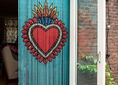 Objets de décoration - Rideau de porte en bambou Milagro Coeur - KITSCH KITCHEN