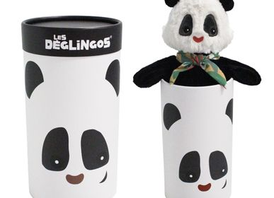 Soft toy - BIG SIMPLY DEGLINGOS PLUSH ROTOTOS THE PANDA - LES DEGLINGOS