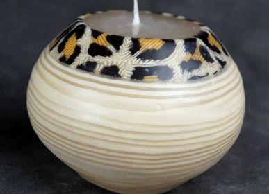 Objets de décoration - BOUGIE BOULE SWAZIPOT CHEATAH BAMBOU - KANDHELA