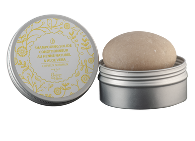 Beauty products - Solid Shampoo with Neutral Henna and Aloe Vera - Refillable - AUTOUR DU BAIN