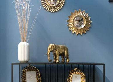Decorative objects - GOLDEN ELEPHANT STATUE 28X11X20CM - EMDE
