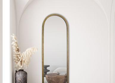Miroirs - MIROIR FENETRE DORE 170X60CM  - EMDE